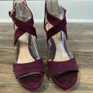 Burgundy Pumps by Vince Camuto